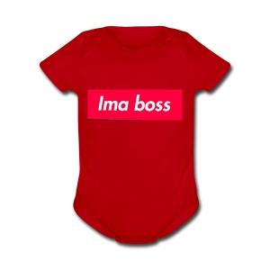 I'ma boss Merchandise - Short Sleeve Baby Bodysuit