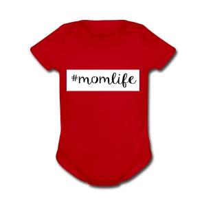 #momlife - Short Sleeve Baby Bodysuit