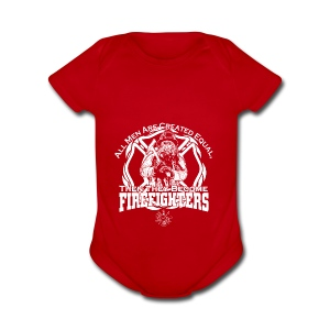 Firefighter t shirts - Short Sleeve Baby Bodysuit