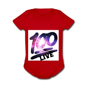 living 100 - Short Sleeve Baby Bodysuit