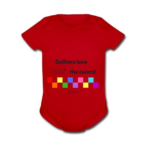 Love Color - Organic Short Sleeve Baby Bodysuit