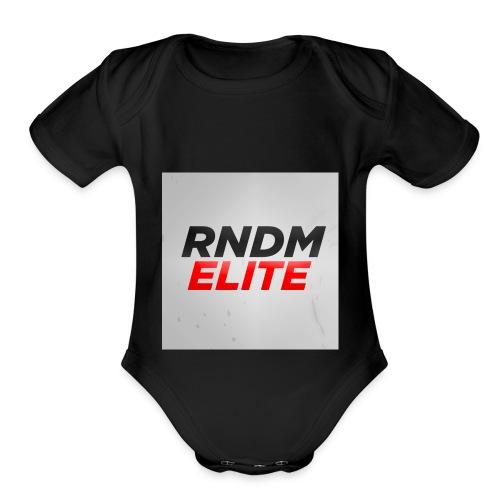 RNDM ELITE logo - Organic Short Sleeve Baby Bodysuit