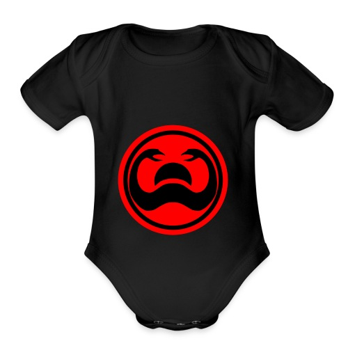 Conan Snakes Over a Setting Sun - Organic Short Sleeve Baby Bodysuit