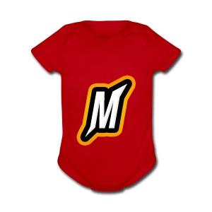 Munchtuts logo - Short Sleeve Baby Bodysuit