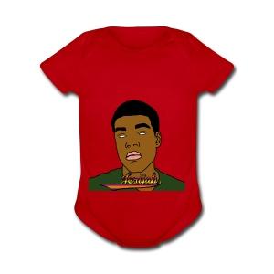 Jerijah a good love friend - Short Sleeve Baby Bodysuit