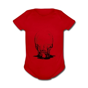Real Scary Blood Skull - Short Sleeve Baby Bodysuit