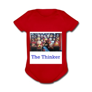 the thinker - Short Sleeve Baby Bodysuit