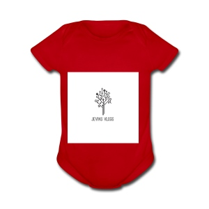 Jevins Vlogs - Short Sleeve Baby Bodysuit
