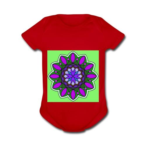 flower of love - Organic Short Sleeve Baby Bodysuit