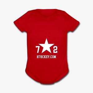 72Hockey com logo - Short Sleeve Baby Bodysuit