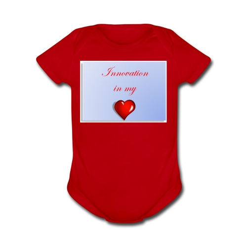 Innovation In my Heart - Organic Short Sleeve Baby Bodysuit