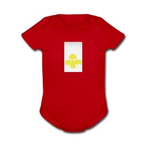 Booster logo - Short Sleeve Baby Bodysuit