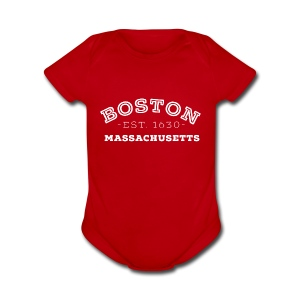 Boston Massachusetts - Short Sleeve Baby Bodysuit