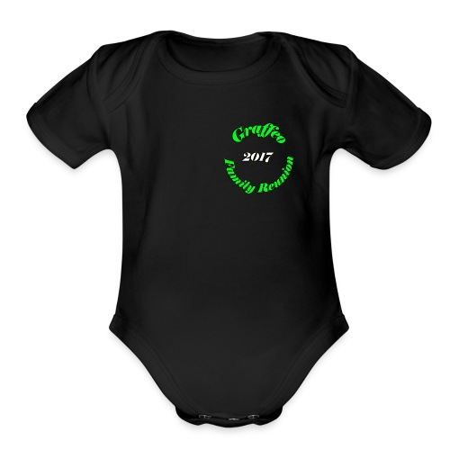 Graffeo Family Reunion - Organic Short Sleeve Baby Bodysuit