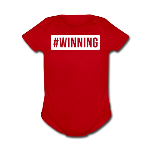 #WINNING - Organic Short Sleeve Baby Bodysuit