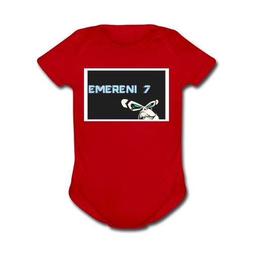 EMERENI 7 Merch - Organic Short Sleeve Baby Bodysuit