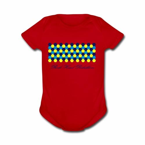 rock hard rebellion - Organic Short Sleeve Baby Bodysuit