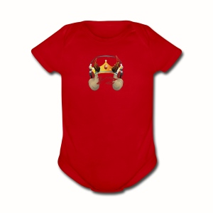 YXNGZAY KING LOGO - Short Sleeve Baby Bodysuit