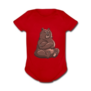 Bear in Contempt T-Shirt - Short Sleeve Baby Bodysuit