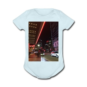 Moon Light Down Town - Short Sleeve Baby Bodysuit