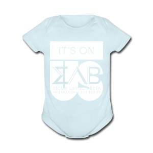 Its On Betas White - Short Sleeve Baby Bodysuit