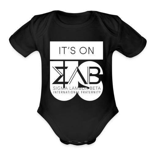 Its On Betas White - Organic Short Sleeve Baby Bodysuit