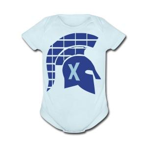 Spartans Tech Blue - Short Sleeve Baby Bodysuit