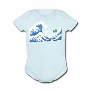 EvolveAll Riding The Wave - Short Sleeve Baby Bodysuit