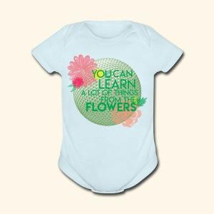 flowerandgarden - Short Sleeve Baby Bodysuit