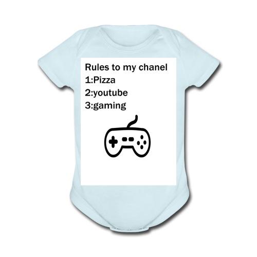 jxgamer merch - Organic Short Sleeve Baby Bodysuit