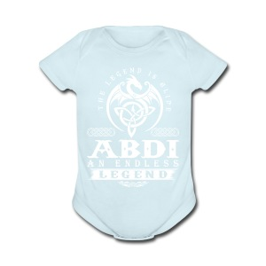 ABDI - Short Sleeve Baby Bodysuit