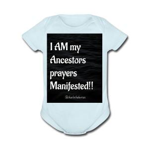 Manifested Prayers - Short Sleeve Baby Bodysuit