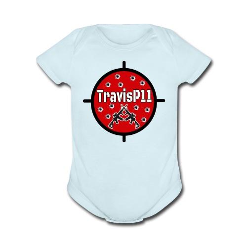travisp11 transparent - Organic Short Sleeve Baby Bodysuit