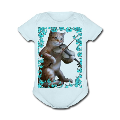 Chat chante - Organic Short Sleeve Baby Bodysuit