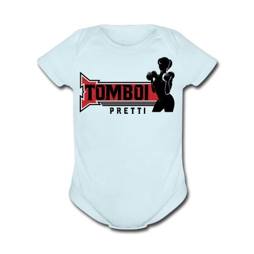 Red Pretti - Organic Short Sleeve Baby Bodysuit