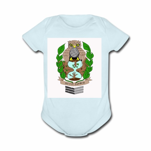 owl hourglass - Organic Short Sleeve Baby Bodysuit