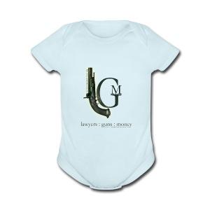 Lawyers, Guns and Money Logo - Short Sleeve Baby Bodysuit
