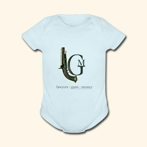 Lawyers, Guns and Money Logo - Organic Short Sleeve Baby Bodysuit
