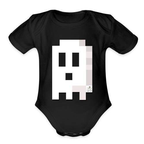 BC Ghost Boo T Shirt - Organic Short Sleeve Baby Bodysuit