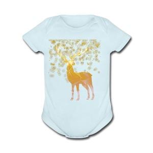 Deer Lover T shirt - Short Sleeve Baby Bodysuit
