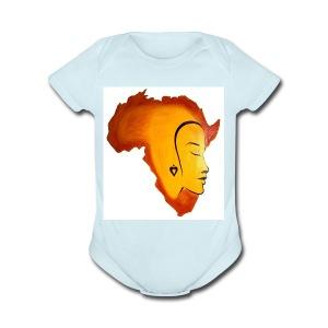 africa face - Short Sleeve Baby Bodysuit