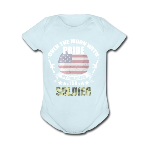 Great Gift For Soldier Girlfriend. Shirt From men - Organic Short Sleeve Baby Bodysuit