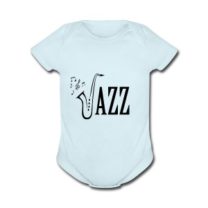 Jazz Shirt for Musicians - Cool Music Lovers shirt - Short Sleeve Baby Bodysuit