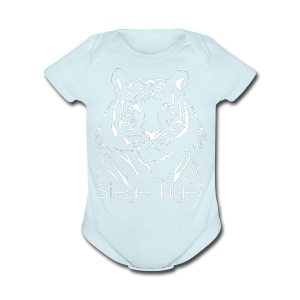 Siege Tiger White - Short Sleeve Baby Bodysuit