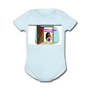 TheFriendlyGamerNextDoor's Shirt!!! - Short Sleeve Baby Bodysuit