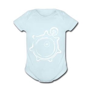 Athlete Engineers Stopwatch - White - Short Sleeve Baby Bodysuit