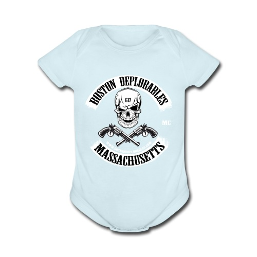 boston deplorable - Organic Short Sleeve Baby Bodysuit