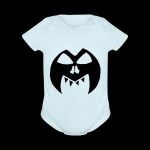 Black Transparent Logo - Short Sleeve Baby Bodysuit