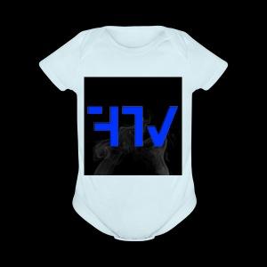 F3ars TV Logo - Short Sleeve Baby Bodysuit