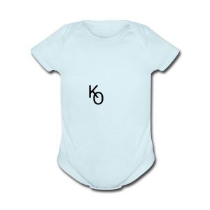 K Over The O - Short Sleeve Baby Bodysuit